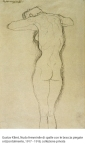 Gustav Klimt, Nudo femminile di spalle con le braccia piegate orizzontalmente, 1917 - 1918, collezione privata
