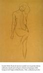 Gustav Klimt, Nudo di donna in piedi con la gamba destra sollevata: studio per la figura a destra nel gruppo delle Gorgoni nel Fregio di Beethoven, 1902, collezione privata